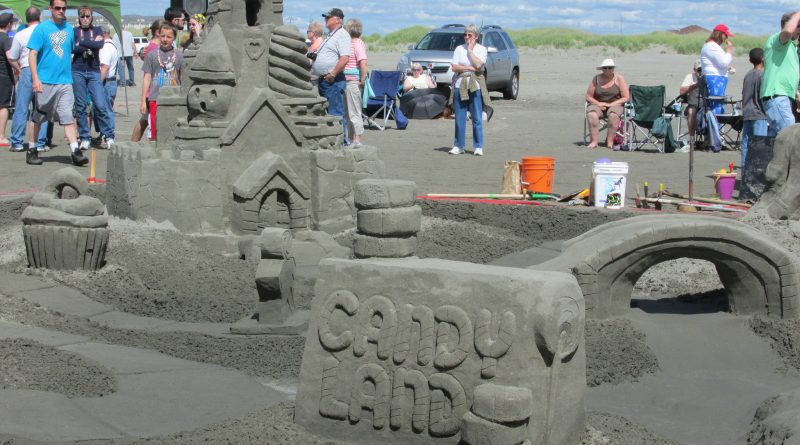 Candy Land sandcastle.
