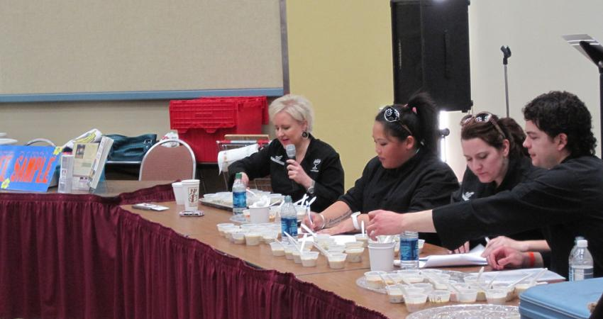 Chowder competition judges at the Ocean Shores Razor Clam Festival.