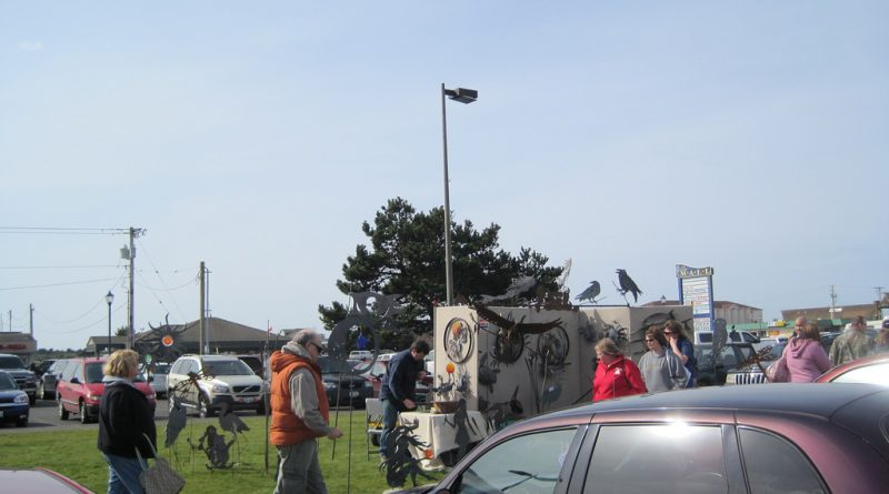 Outside vendors at the Ocean Shores Convention Center.